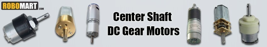 Center Shaft DC Gear Motors
