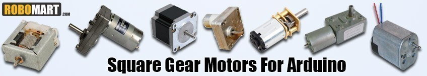 Square Gear Motors For Arduino