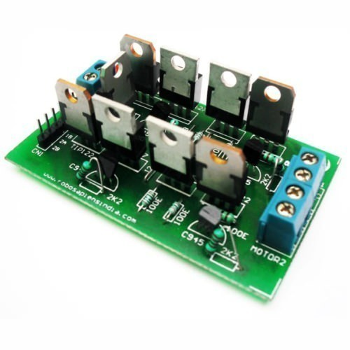 Dual h bridge power transistor motor arduino board robomart for Raspberry pi stepper motor controller