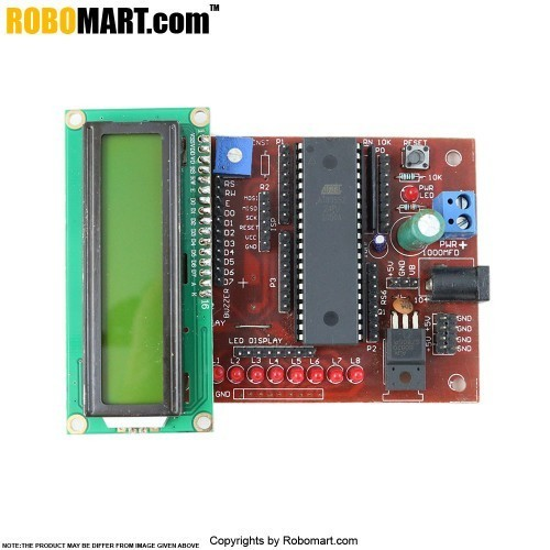 AT89sXX Development Board With LCD Interfacing