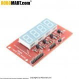 4 Digit Seven Segment Display Board (Common Cathode) for Arduino/Raspberry-Pi/Robotics