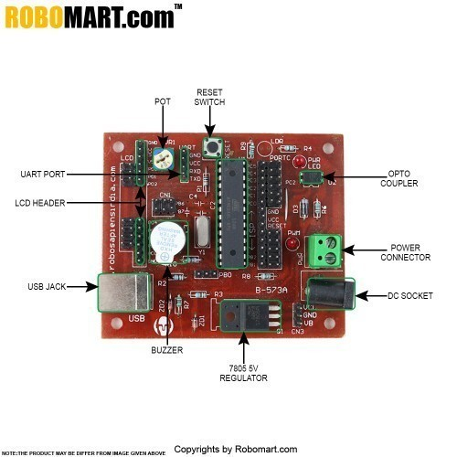 Atmega8 mini Robotics Development Board V1.0