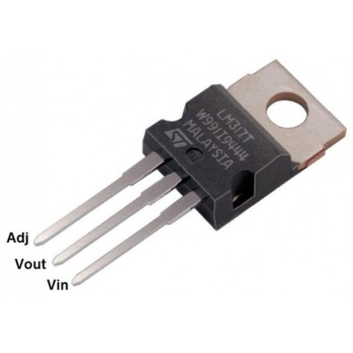 lm317   3 terminal adjustable linear voltage regulator