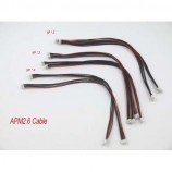 8pcs APM 2.6 Flight Control Cable (DF13 4/5/6 Position Connector 20 cm) 4pin, 5pin & 6pin