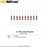 2.2 kilo ohm 1/4 watt Resistance (pack of 10)