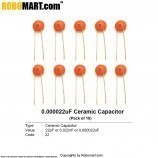 22pF Ceramic Capacitor (Pack of 10)