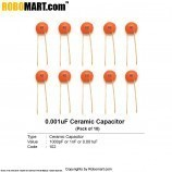 1000pF (102pF) Ceramic Capacitor (Pack of 10)