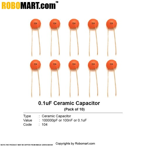 100000pf ceramic capacitor