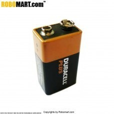 9V Duracell Battery for Arduino/Raspberry-Pi/Robotics