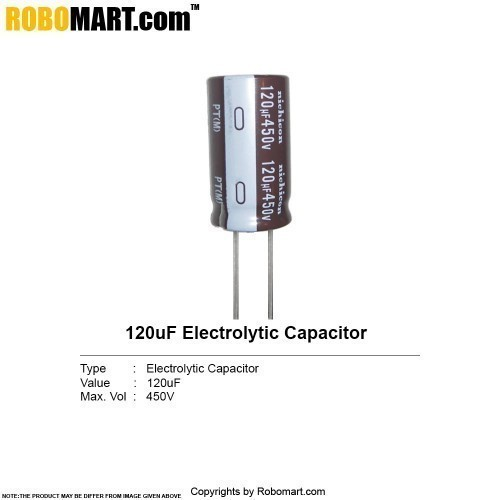 120µf 450v electrolytic capacitor