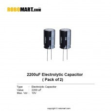 2200µF 10v Electrolytic Capacitor (Pack of 2)