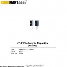 47µF 200v Electrolytic Capacitor (Pack of 2)