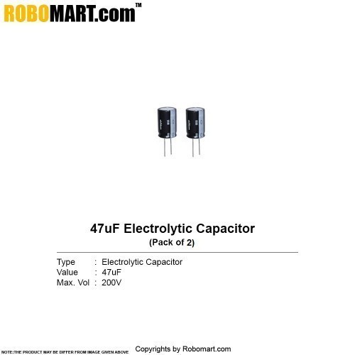 47µf 200v electrolytic capacitor