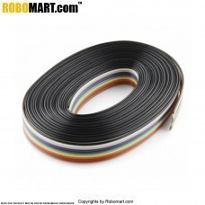 Rainbow Ribbon Cable - 1 Meter