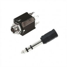6.35 mm Stereo Jack Socket (Pair)