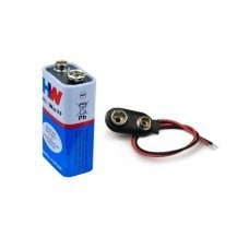 9V Battery with Connector