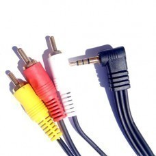 3.5mm 4 pin Jack to 3 RCA A/V Connector
