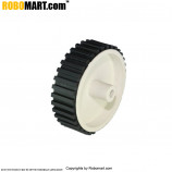 White Small Tyre V 1.0 for Arduino/Raspberry-Pi/Robotics