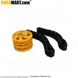 Tyre And Track Belt Combo for Arduino/Raspberry-Pi/Robotics