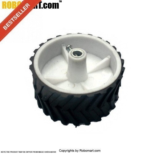 Robosapiens White Double Screw Mount Tyre V 2.0