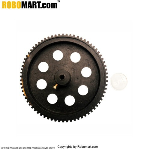 Robosapiens 4'' Black Screw Mount Tyre V 1.0