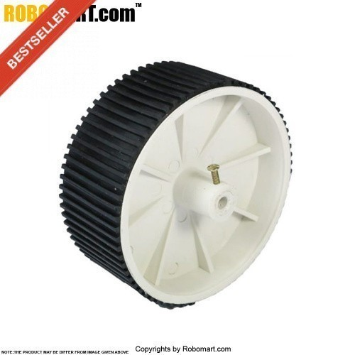 Robosapiens 4'' Double White Screw Mount Tyre