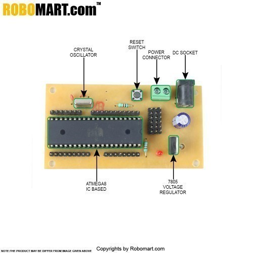 ATMEGA 16 Project Board with Controller V 2.0