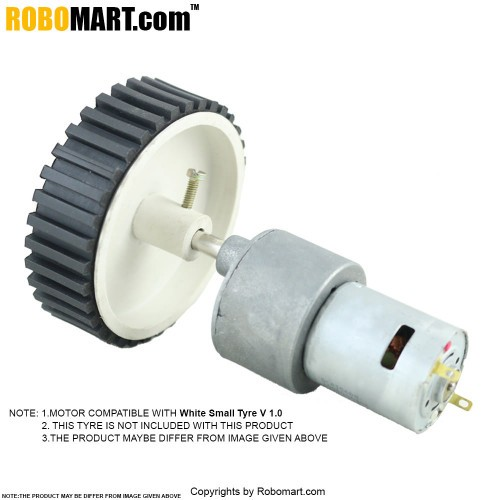 Buy Online 300 Rpm Johnson Gear Dc Motor 12v Robomart India