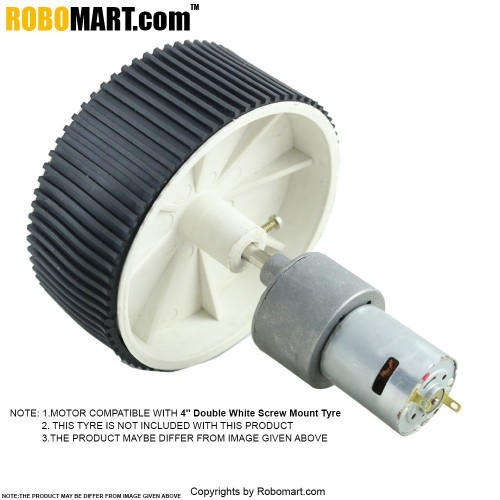 100 RPM Johnson Gear DC Motor 12V for Arduino/Raspberry-Pi/Robotics
