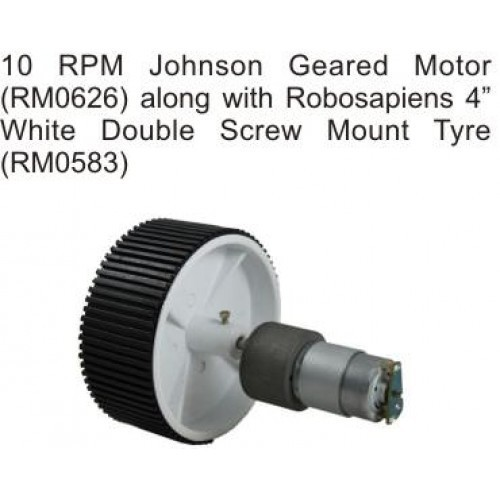 10 RPM Johnson Gear DC Motor 12V for Arduino/Raspberry-Pi/Robotics