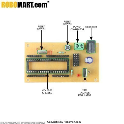 ATMEGA16 Project Board without Controller V 2.0