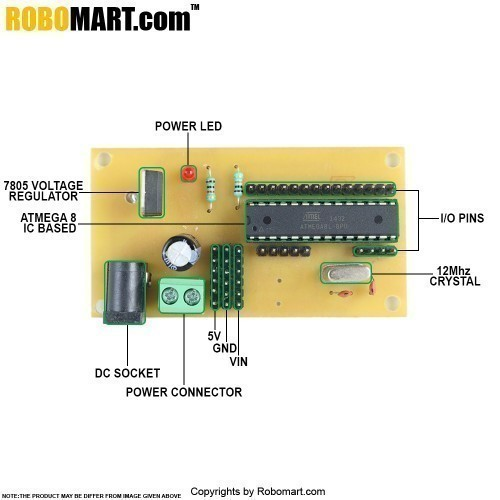 ATMEGA8 Project Board with Controller V2.0
