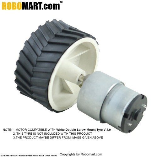 20 RPM Side Shaft Gear DC Motor for Arduino/Raspberry-Pi/Robotics