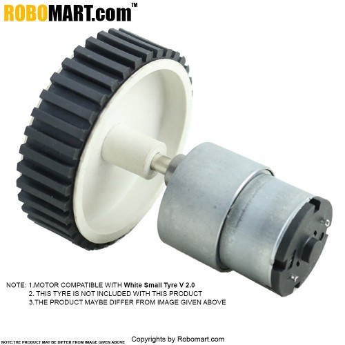 200 RPM Side Shaft Gear DC Motor for Arduino/Raspberry-Pi/Robotics