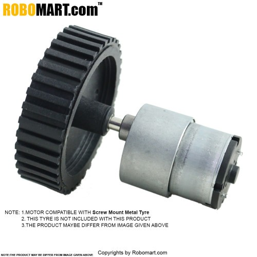 100 RPM Side Shaft Gear DC Motor for Arduino/Raspberry-Pi/Robotics