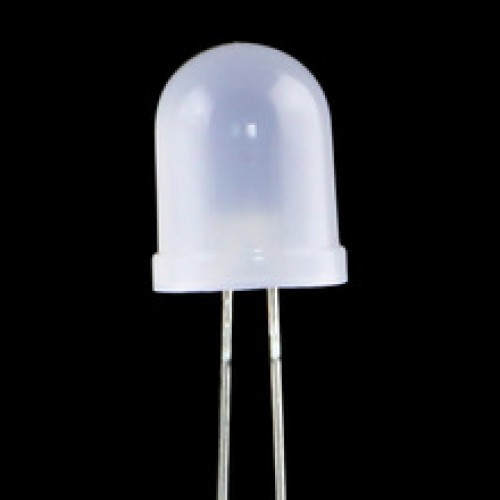 10 mm white diffused light emitting led