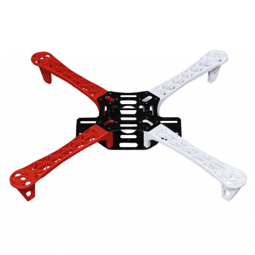 r450 quadcopter frame with integrated pcb