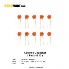 270pF (271pF) Ceramic Capacitor (Pack of 10)