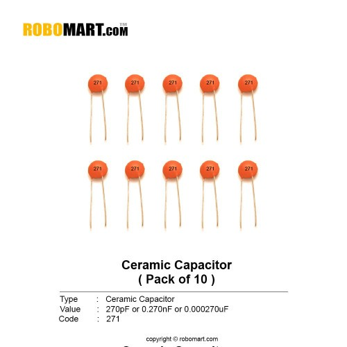 270pf ceramic capacitor