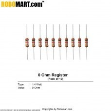 0 ohm Resistance (Pack of 10)