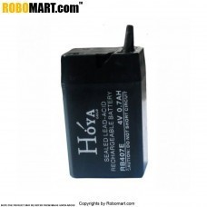 4V / 0.5 AH Rechargeable Battery for Arduino/Raspberry-Pi/Robotics