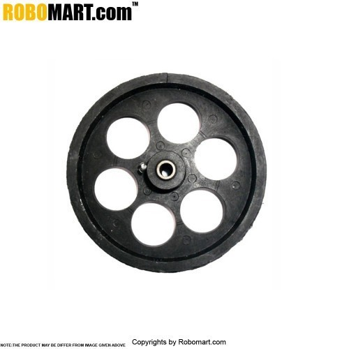 "Robosapiens 4"" Black Track Wheel Screw Mount"