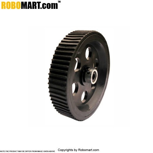 "Robosapiens 3.5"" Black Screw Mount Tyre (Metal Shaft Cover)"