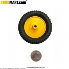 "3'' Tyre + 2"" Plastic Pully (BO Shaft) for Arduino/Raspberry-Pi/Robotics"