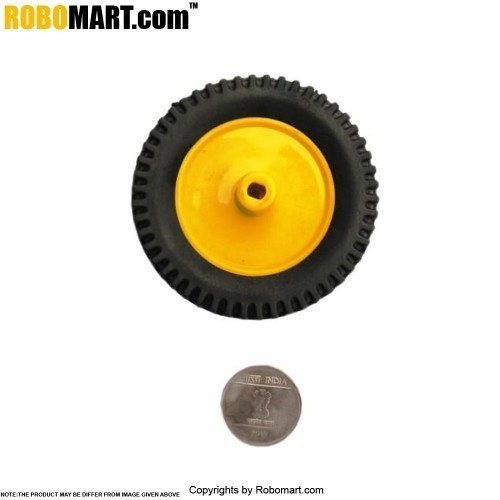 "Robosapiens 3'' Tyre + 2"" Plastic Pully (BO Shaft)"