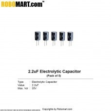 2.2µF 35v Electrolytic Capacitor (Pack of 5)