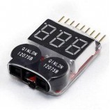 Lipo Battery Voltage Indicator Tester with LOW VOLTAGE Buzzer Alarm 2 in 1 for Quadcopter