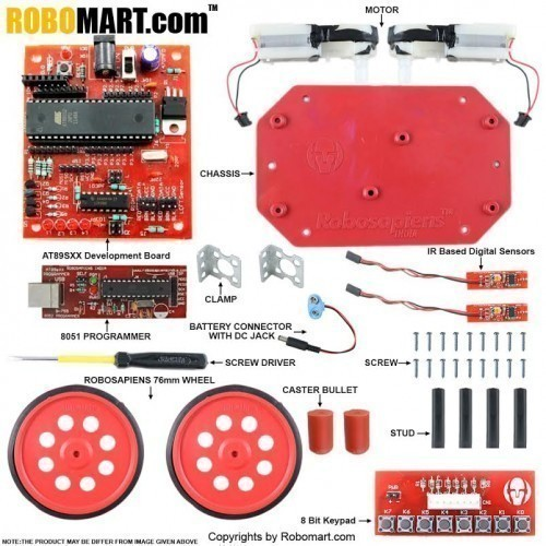 Autonomous Robotics Workshop Kit using 8051(AT89s52) for All Workshop Companies/College Clubs/Entrepreneurs(Standard Kit)