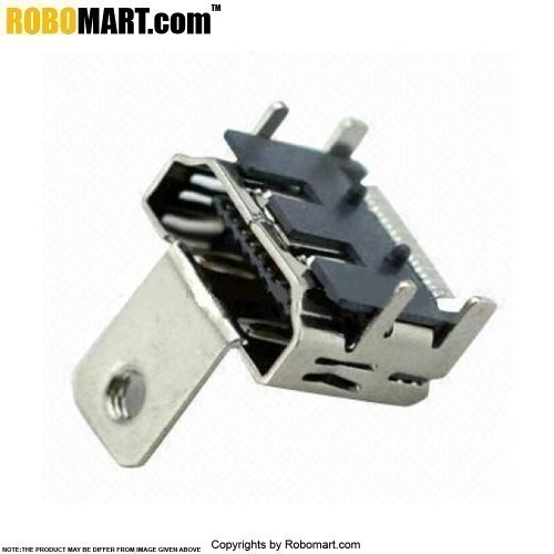 hdmi female connector smt style with screw fastener