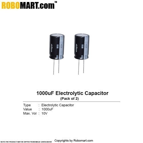 1000µf 10v electrolytic capacitor